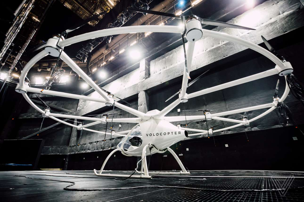 To Volocopter είναι ένα από τα πρώτα drone-ταξί
