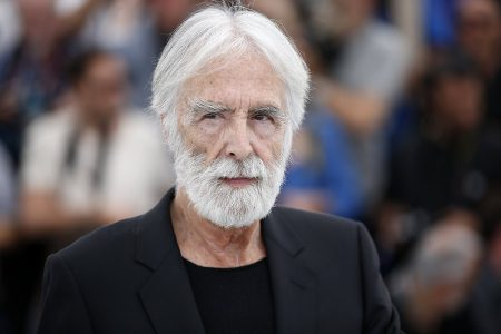 epa05981180  Austrian director Michael Haneke poses during the photocall for 'Happy End' during the 70th annual Cannes Film Festival, in Cannes, France, 22 May 2017. The movie is presented in the Official Competition of the festival which runs from 17 to 28 May.  EPA/SEBASTIEN NOGIER