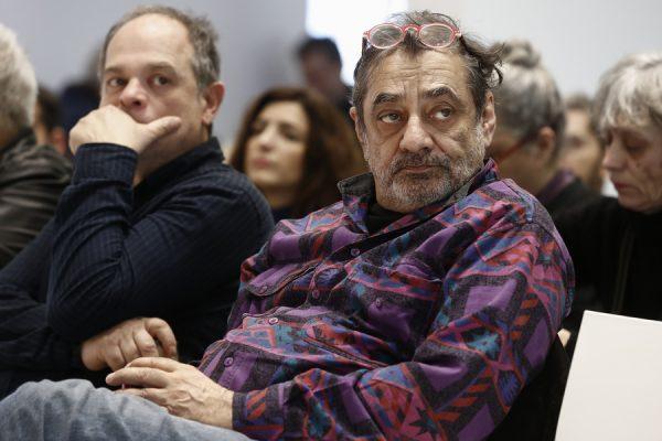 Ο ηθοποιός Αντώνης Καφετζόπουλος (Δ) παρευρίσκεται στην συνέντευξη τύπου-παρουσίαση προγράμματος του Φεστιβάλ Αθηνών, στο Εθνικό Μουσείο Σύγχρονης Τέχνης (ΕΜΣΤ), Αθήνα Δευτέρα 5 Φεβρουαρίου 2018. ΑΠΕ-ΜΠΕ/ΑΠΕ-ΜΠΕ/ΓΙΑΝΝΗΣ ΚΟΛΕΣΙΔΗΣ