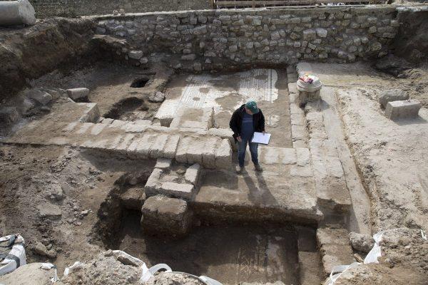 Roman mosaic in Caesarea