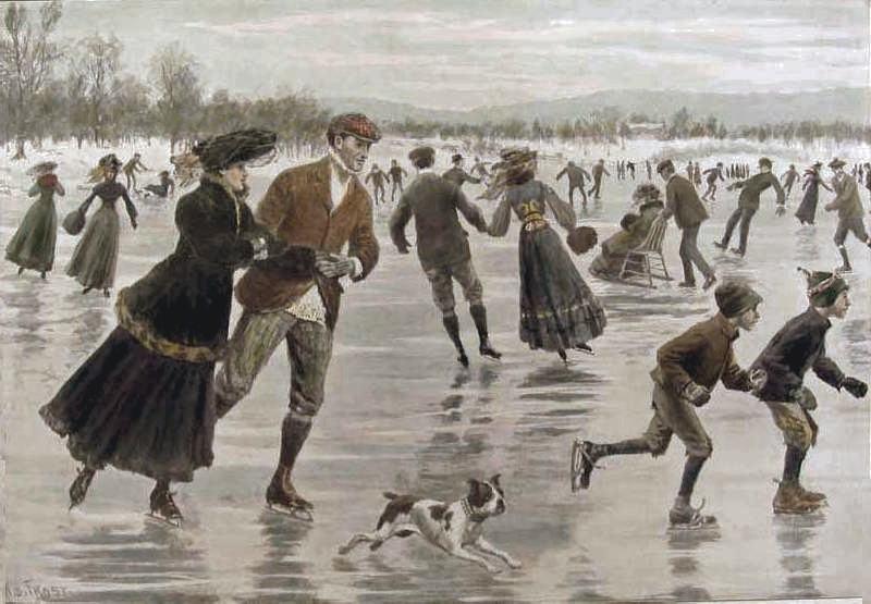 Μια μέρα στον πάγο, στην βικτωριανή Αγγλία του 1904, όπου τα ρούχα ήταν ελαφρώς τροποποιημένα ώστε να διευκολύνουν το πατινάζ. Οι φούστες της εποχής ανεβαίνουν στον αστράγαλο για να επιτρέπουν ευκολότερη κίνηση ενώ χάνουν τον όγκο τους μειώνοντας έτσι το βάρος τους
