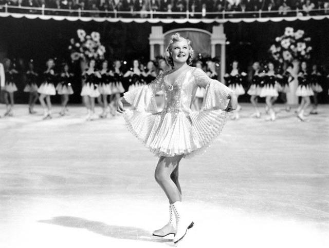 Η νορβηγή Σόνια Χένι στην πρώτη χολιγουντιανή ταινία της, One in a Million, το 1936
