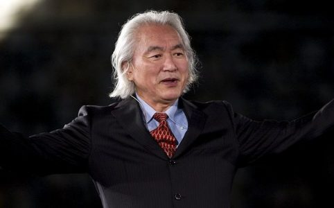 """epa02405175 US Professor of Theoretical Physics Michio Kaku gestures during his speech at the opening of the I Congress of Brilliant Minds at the Tradeshow and Congress Centre of Malaga, in Andalusia, southern Spain on 21 October 2010. The congress runs until 23 October and gathers 24 leaders who only have 21 minutes to present the most innovative and """"brilliant"""" ideas for improving the world.  EPA/JORGE ZAPATA"""