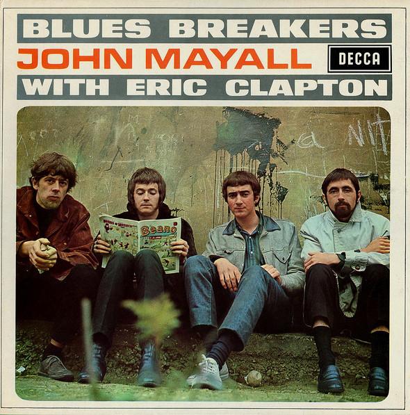 Το ιστορικό άλμπουμ των Bluesbrakers. Από αριστερά Τζον Μάγιαλ, Ερικ Κλάπτον, Τζον Μακ Βι, Χιούγκι Φλιντ