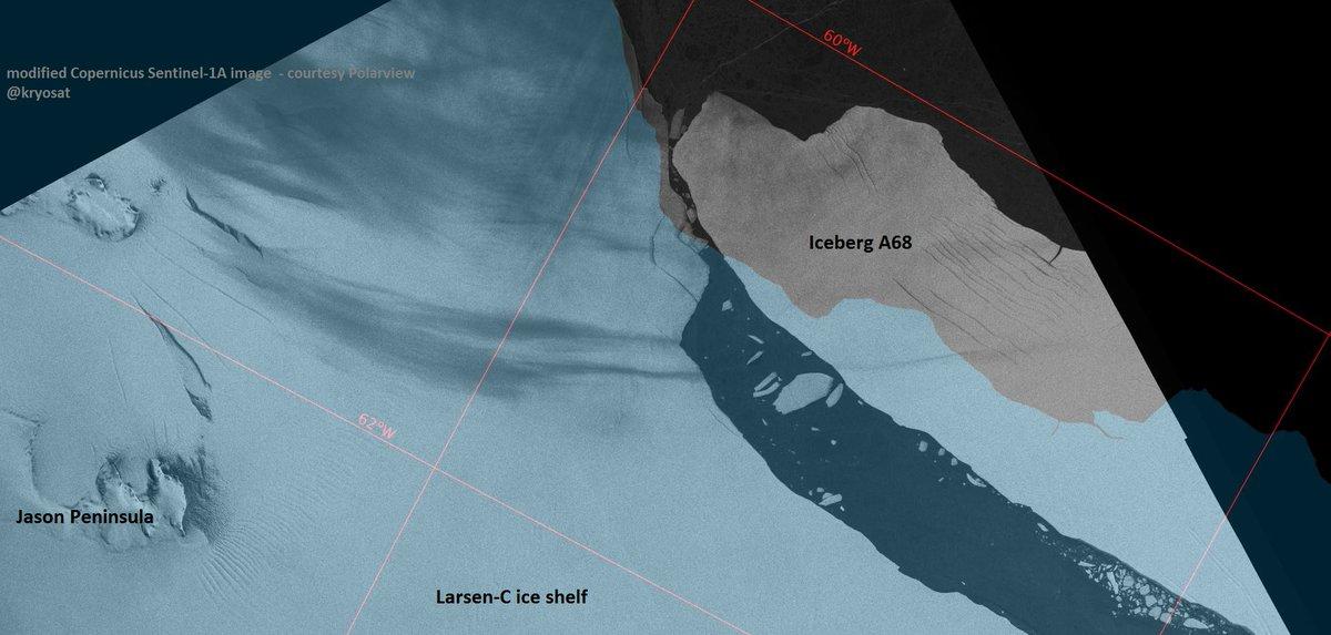 Η αποκόλληση του γιγάντιου παγόβουνου A68 αποκάλυψε ένα παγιδευμένο επί 120 χιλιάδες χρόνια θαλάσσιο οικοσύστημα το οποίο θα εξερευνηθεί