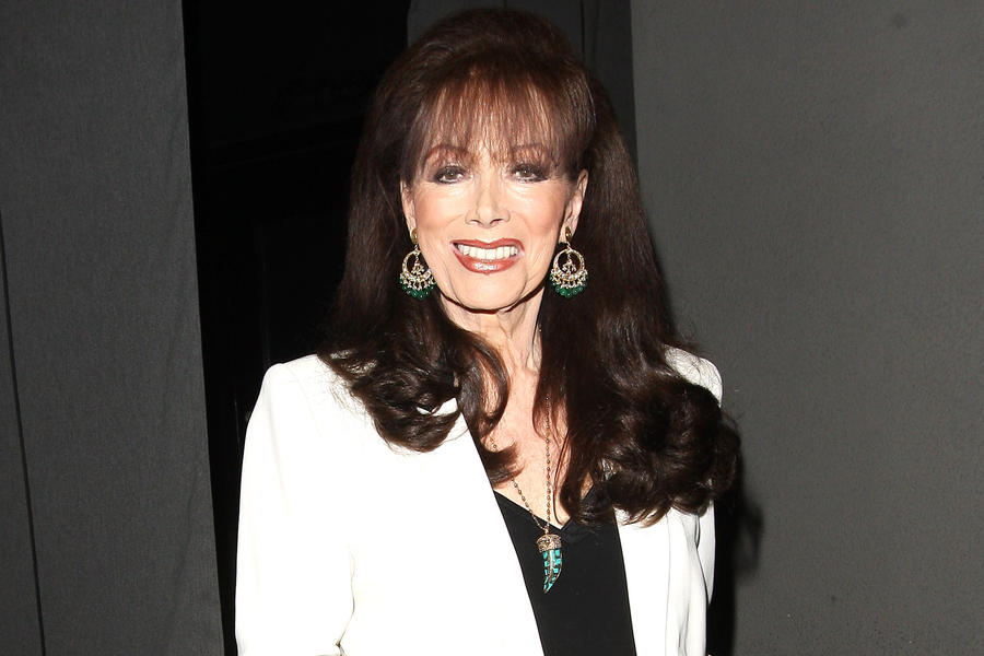 21 Aug 2015, West Hollywood, California, USA --- Jackie Collins leaves Craig's Restaurant in West Hollywood Pictured: Jackie Collins --- Image by © Photographer Group/Splash News/Corbis