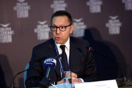 Ο διοικητής της Τράπεζας της Ελλάδας Γιάννης Στουρνάρας  μιλάει σε συζήτηση στο Οικονομικό Φόρουμ Δελφών που γίνεται στο Ευρωπαικό Πολιτιστικό Κέντρο  Δελφών, Σάββατο 3  Μαρτίου 2018. ΑΠΕ-ΜΠΕ/ΑΠΕ-ΜΠΕ/ΟΡΕΣΤΗΣ ΠΑΝΑΓΙΩΤΟΥ