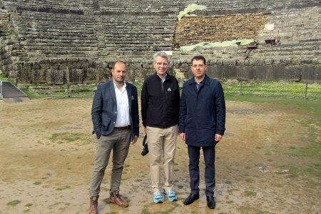Ο πρέσβης των ΗΠΑ στην Ελλάδα Τζέφρι Πάιατ (Κ) επισκέφτηκε τον αρχαιολογικό χώρο της Δωδώνης στα Ιωάννινα, Κυριακή 18 Μαρτίου 2018. ΑΠΕ-ΜΠΕ/ΑΠΕ-ΜΠΕ/Μ. ΤΖΩΡΑ