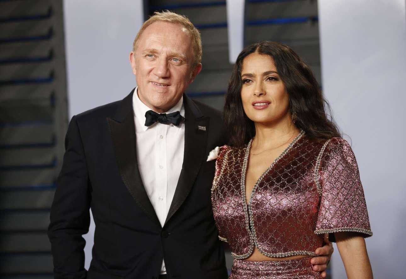 Η Σάλμα Χάγιεκ με τον μεγιστάνα σύζυγό της Φρανσουά-Ανρί Πινό