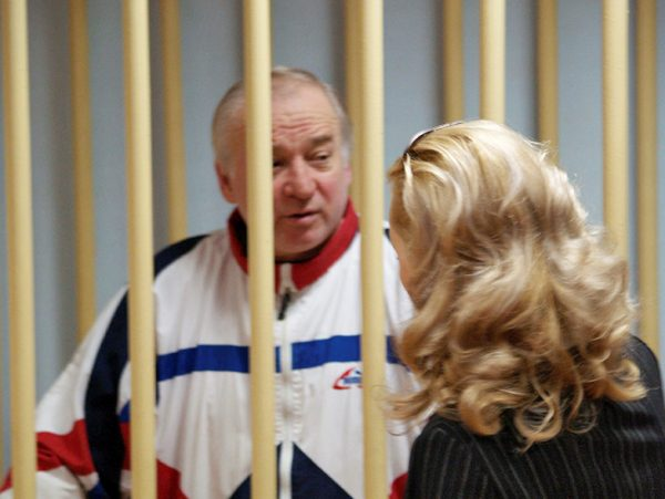 Sergei Skripal, a former colonel of Russia's GRU military intelligence service, looks on inside the defendants' cage as he attends a hearing at the Moscow military district court, Russia August 9, 2006. Picture taken August 9, 2006. Kommersant/Yuri Senatorov via REUTERS ATTENTION EDITORS - THIS PICTURE WAS PROVIDED BY A THIRD PARTY. NO RESALES. NO ARCHIVE.