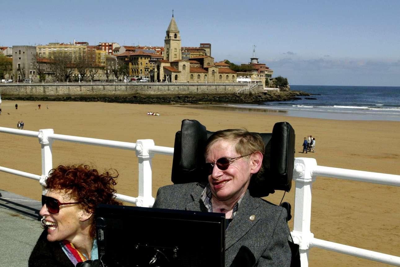 Με τη δεύτερη σύζυγο του Ελέιν Μέισον σε διακοπές στην Ισπανία, το 2005