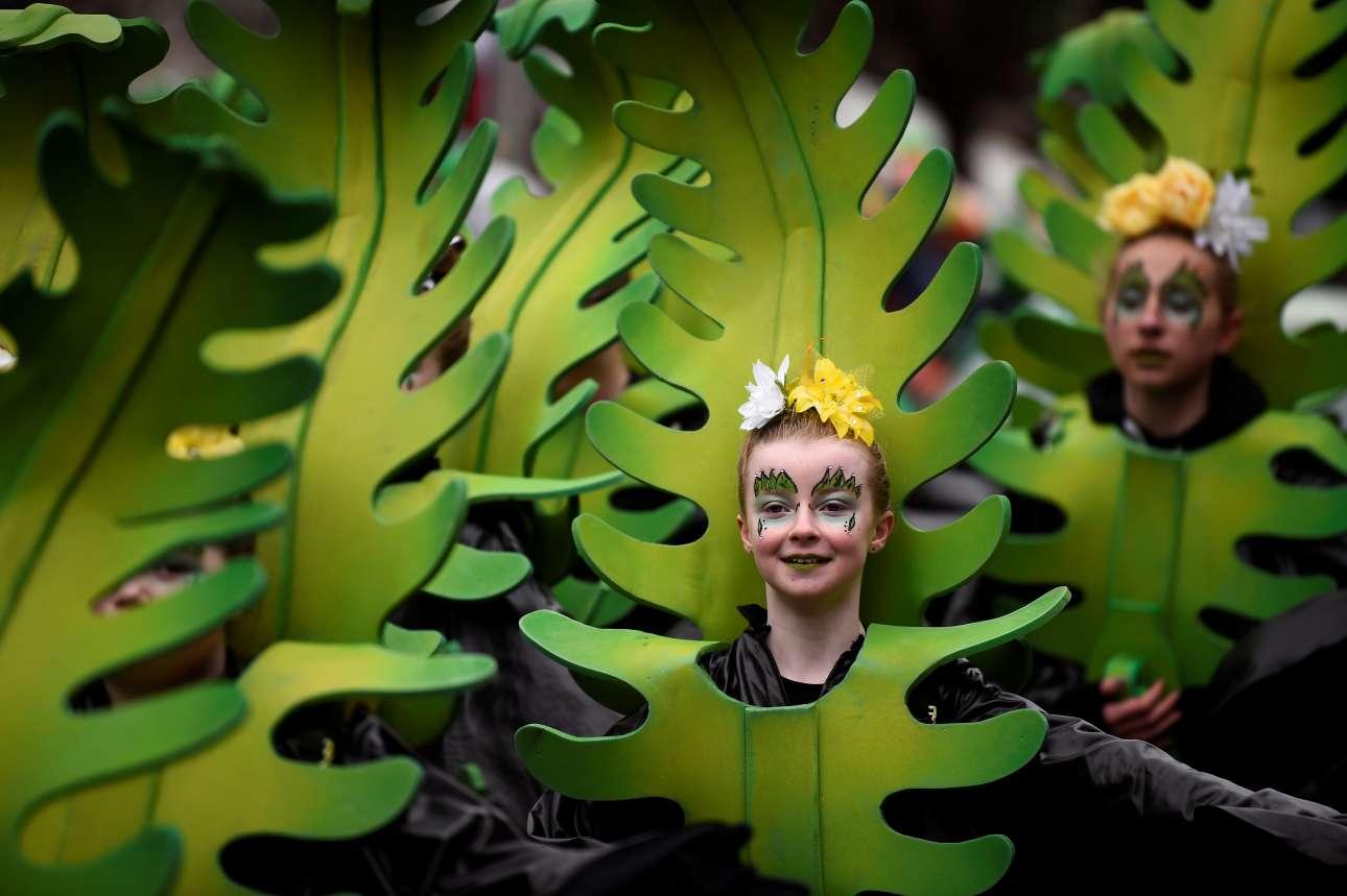 Σάββατο, 17 Μαρτίου. Ιρλανδία. Παρέλαση με αφορμή την Ημέρα του Αγίου Πατρικίου, στο Δουβλίνο