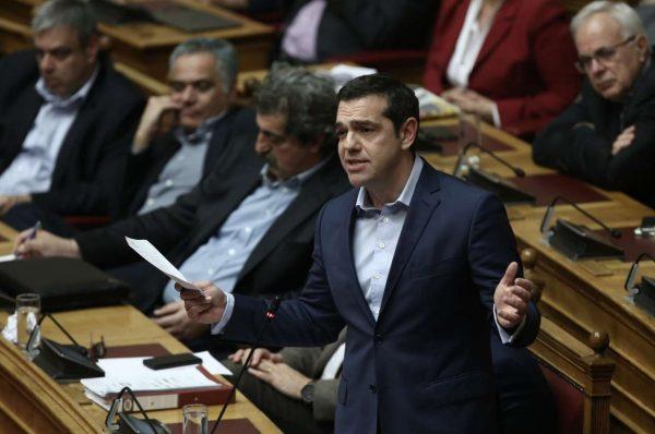 Ο Αλέξης Τσίπρας στη Βουλή το βράδυ της Πέμπτης (Λιάκος Γιάννης / InTimeNews)