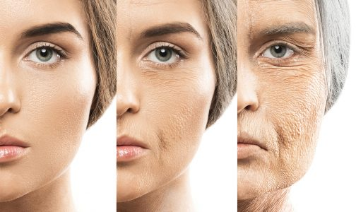Multiple image showing ageing process_748784698
