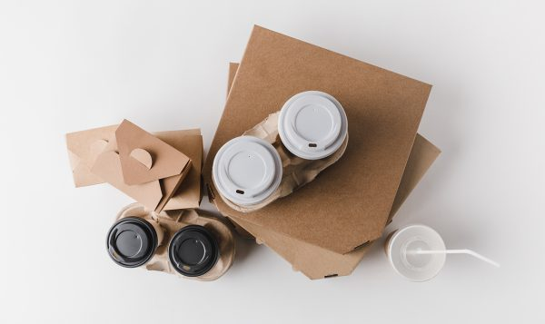 pizza boxes and coffee to go with food_1027673806-sm