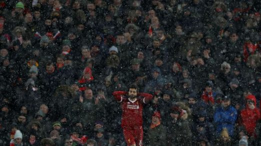 salah snow Action Images via ReutersLee Smith