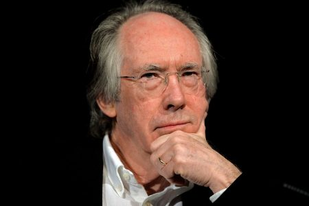 epa05843088 Ian McEwan looks on during a reading at the 'lit.Cologne' international literature festival, in Cologne, Germany, 11 March 2017.  EPA/SASCHA STEINBACH