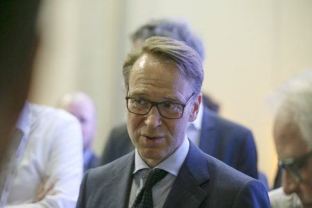 epa06614306 The president of the Central Bank of Germany (Bundesbank), Jens Weidmann, attends the meetings of the G20 at the Exhibition and Convention Center of Buenos Aires, Argentina, 19 March 2018. The meeting of finance ministers and presidents of central banks of the G20 began today in Buenos Aires with a private meeting in which economic leaders are expected to address the future of work and the global tax system, with the ghosts of protectionism freshly revived.  EPA/DAVID FERNANDEZ