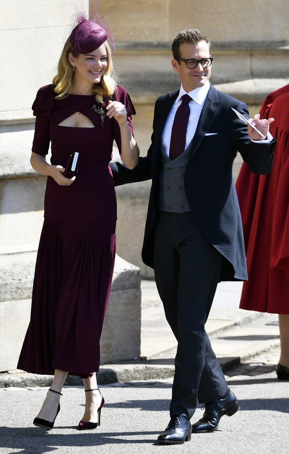 O συμπρωταγωνιστής της Μέγκαν Μαρκλ στη σειρά «Suits» Γκάμπριελ Μαχτ μαζί με τη σύζυγό του Τζασίντα Μπάρετ