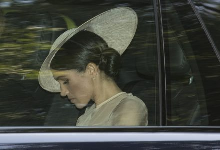 epa06755939 Meghan, Duchess of Sussex arrives at Britain's Prince Charles 70th Birthday Patronage Celebration event at Buckingham Palace in London, Britain, 22 May 2018. This marks the Duchess first official engagement since marrying Prince Harry.  EPA/NEIL HALL