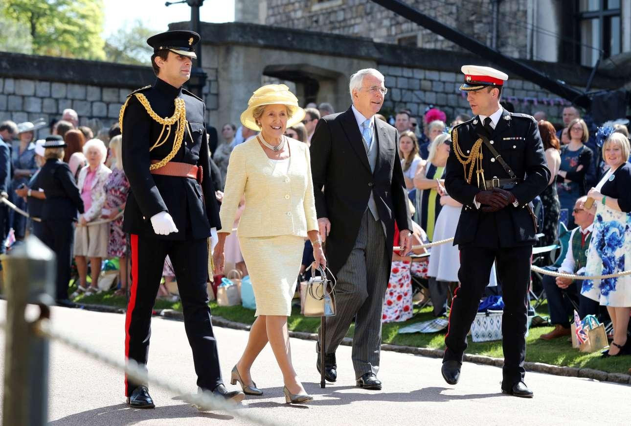 Ο πρώην πρωθυπουργός του Ηνωμένου Βασιλείου, Τζον Μέιτζορ και η σύζυγός του Νόρμα Μάικεν