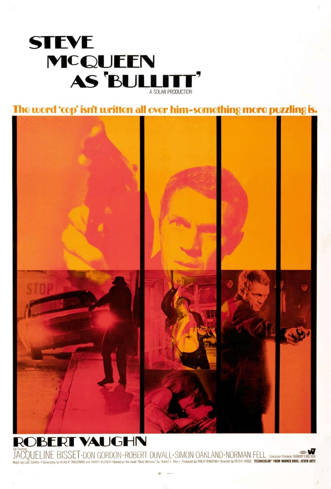 «Μπούλιτ» (Bullitt), 1968. «Παίρνεις μια δουλειά και σου λένε πώς πρέπει να λανσαριστεί η ταινία. Πηγαίνω, βλέπω την ταινία (με ενδιαφέρει πολύ να βλέπω τις αντιδράσεις του κόσμου στις ταινίες), ή αν δεν έχει ολοκληρωθεί η ταινία κοιτάζω τα καρέ. Στη συνέχεια, αποφασίζεις πώς θέλεις το κοινό να τη δει και τότε σκέφτεσαι τον καλύτερο τρόπο για να το μεταδώσεις αυτό»