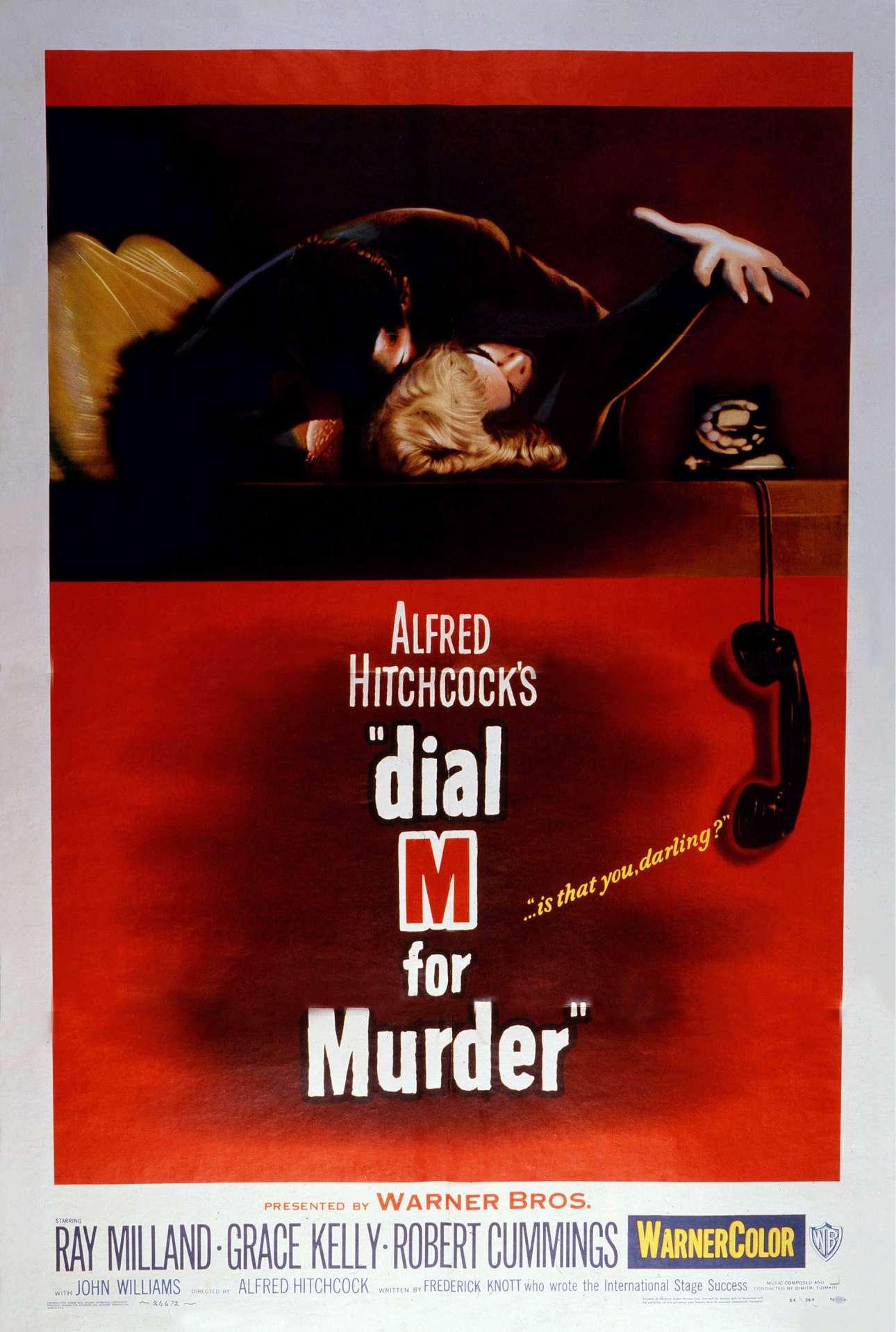 «Τηλεφωνήσατε Ασφάλεια Αμέσου Δράσεως» (Dial M For Murder), 1954. «Θα μπορούσατε να πείτε ότι το μαύρο, το κόκκινο, το γκρι και το λευκό είναι συνήθως τα σήματα κατατεθέντα χρώματά μου»