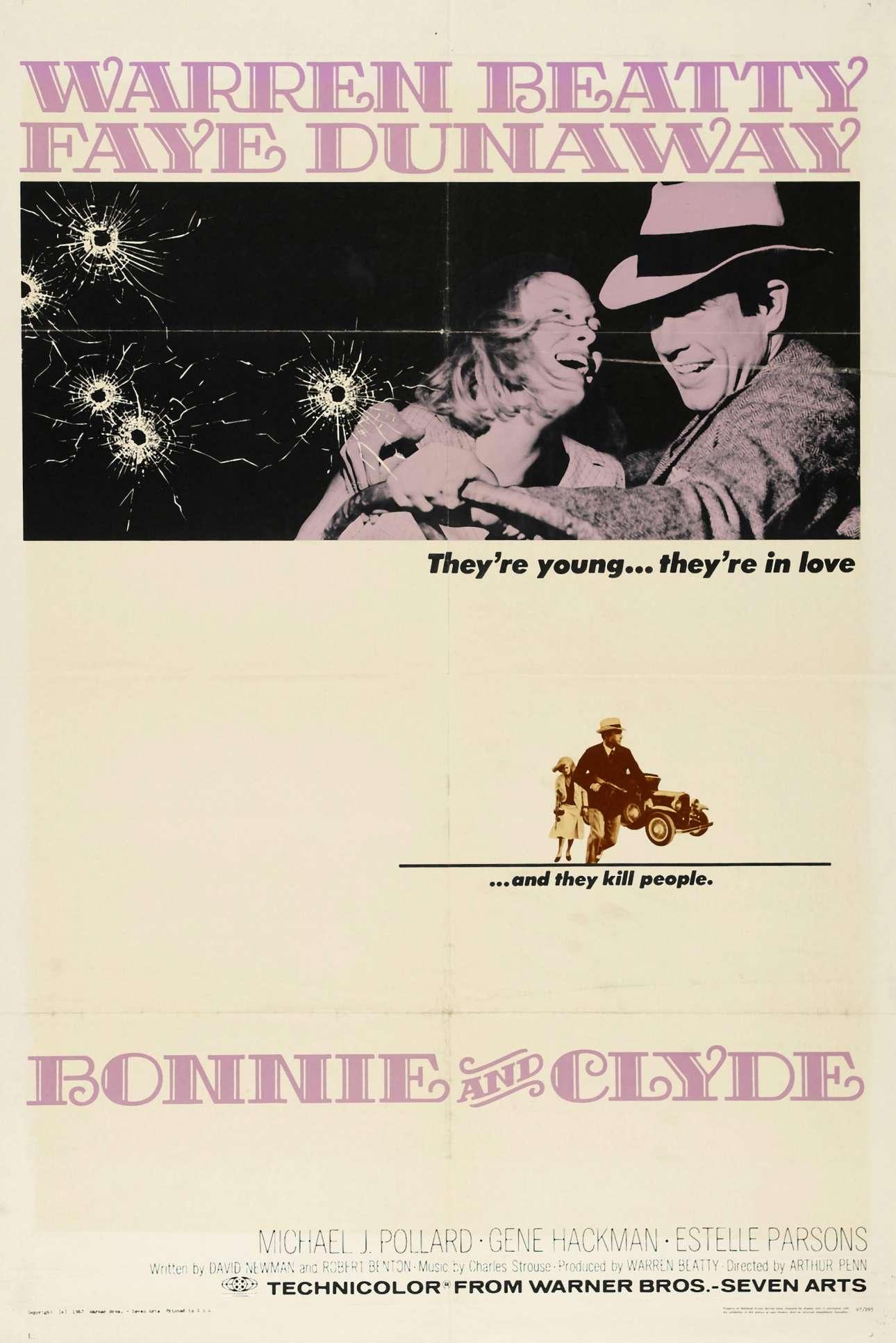 «Μπόνι και Κλάιντ», 1967. «Ηταν ένα μαγευτικό, δραματικό θρίλερ δράσης, αλλά ήθελε επίσης να φανεί αυθεντικό, αληθινό και ακριβές- έτσι, κοιτάζοντας την αφίσα, δεν θα μπορούσες να κάνεις το λάθος να σκεφτείς ότι ήταν απλά μια ιστορία»