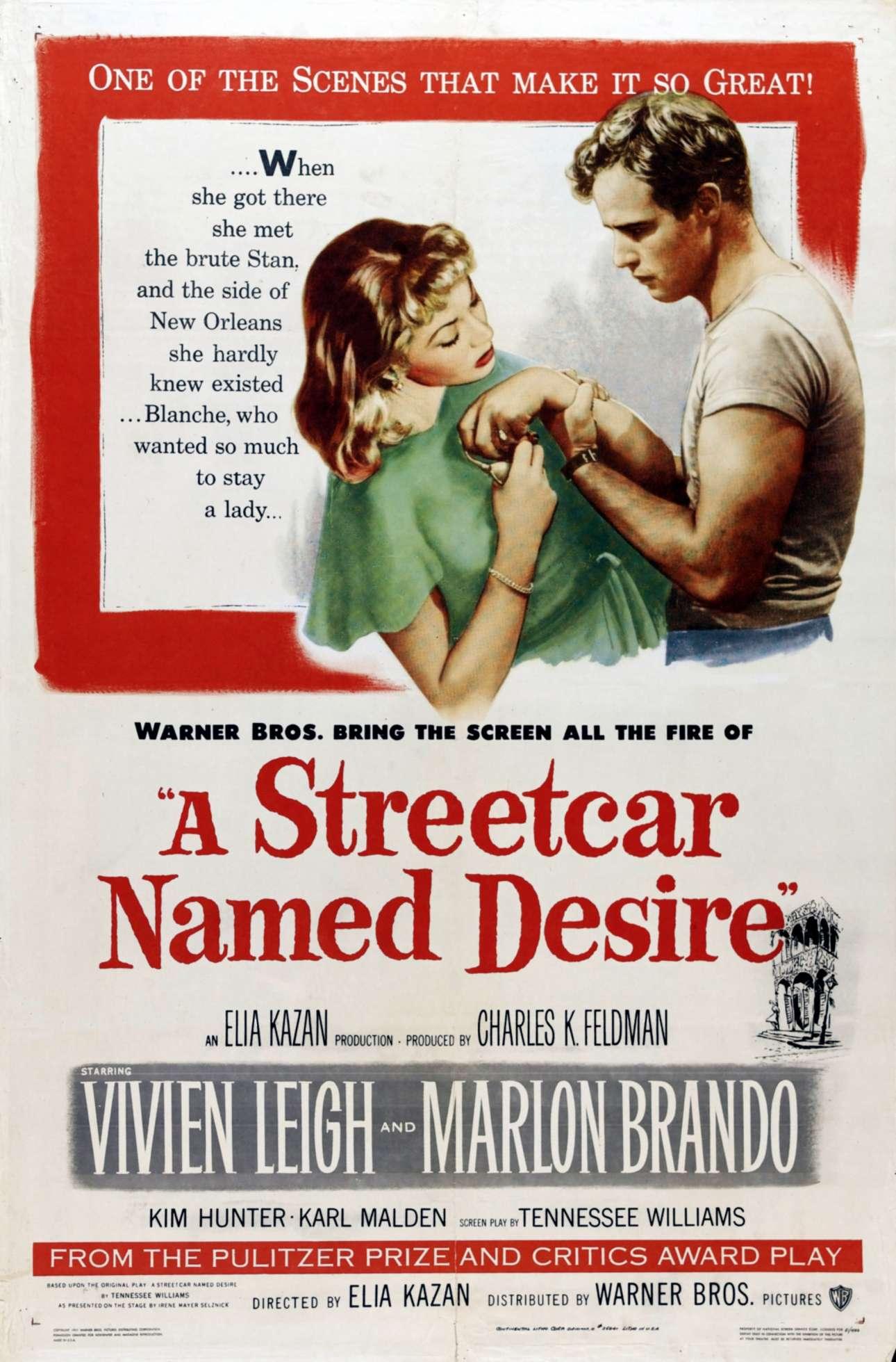 «Λεωφορείον ο Πόθος», 1951. «Ο σκοπός μου είναι να 'πουλήσω' την ταινία, να προσελκύσω ένα κοινό να την δει μέσα από μια αποκαλυπτική και εντυπωσιακή απεικόνιση και τυπογραφία. Να προκαλέσω ενδιαφέρον για την «ιστορία» της ταινίας είναι αυτό που μπορώ να κάνω καλύτερα»