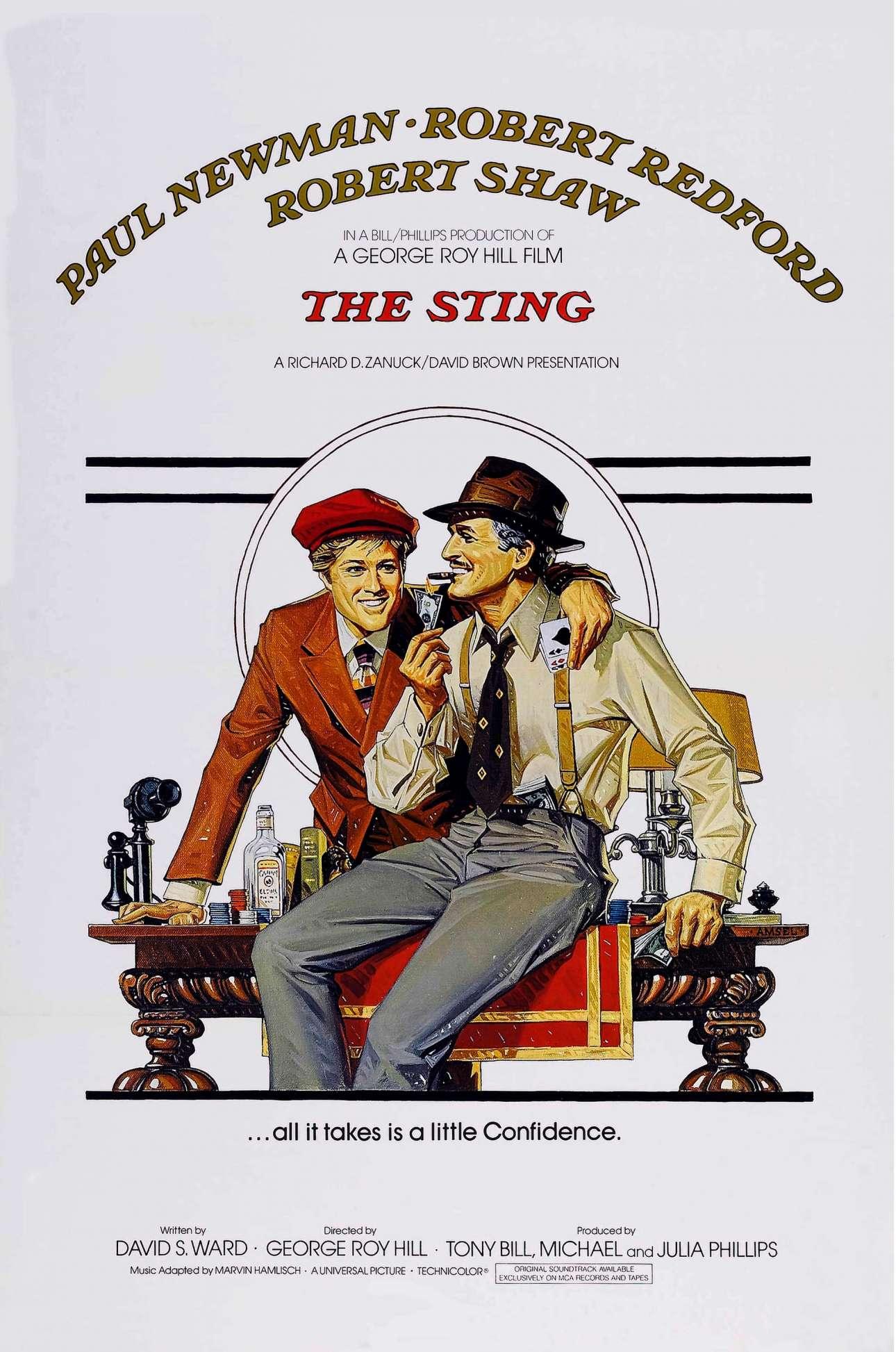 «Το κεντρί», 1973. «Ξέρω ενστικτωδώς πώς πρέπει να μοιάζουν οι αφίσες των κινηματογραφικών ταινιών. Το στιλ μου είναι και ήταν πάντα 'less is more'. Δεν μου αρέσει το πηγμένο λουκ. Καθαρό, απλό και στο νόημα»