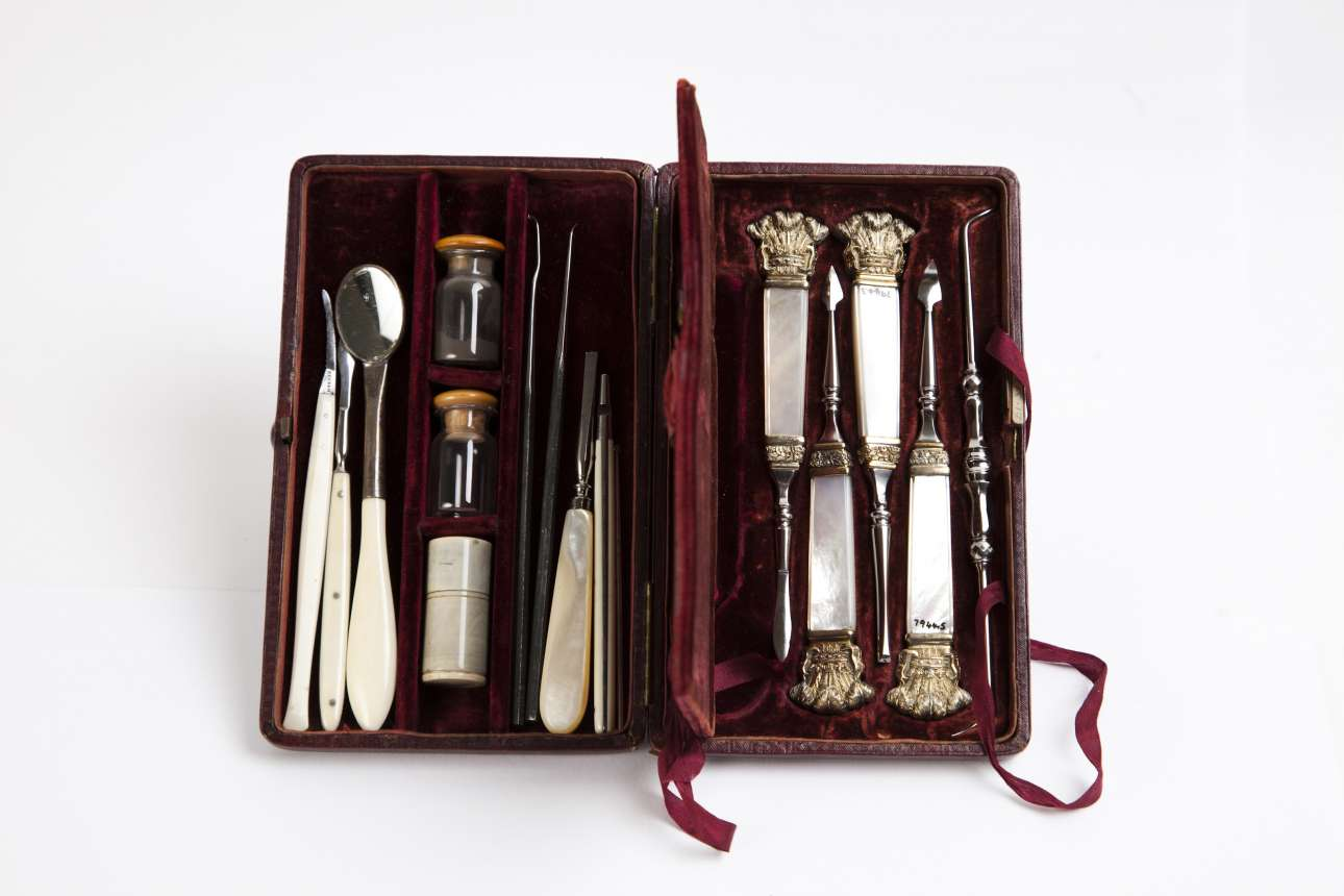 Σετ εργαλείων οδοντιατρικής του Σερ Εντγουϊν Σόντερς (1814-1901), οδοντιάτρου της Βασίλισσας Βικτωρίας της Αγγλίας