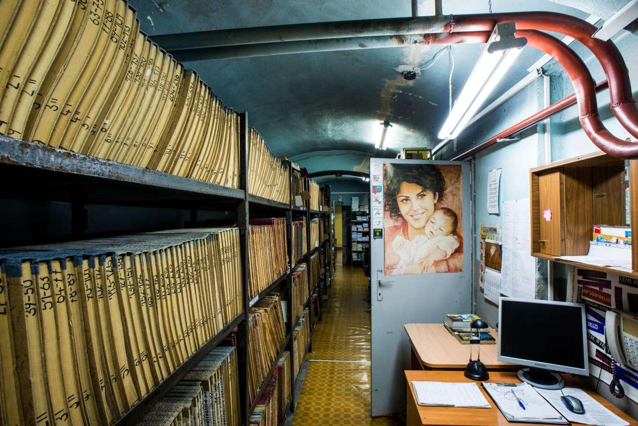 Η δημόσια βιβλιοθήκη στη Λενίκα της Πολωνίας στεγάζεται μέσα σε μία πρώην Τεκτονική Στοά