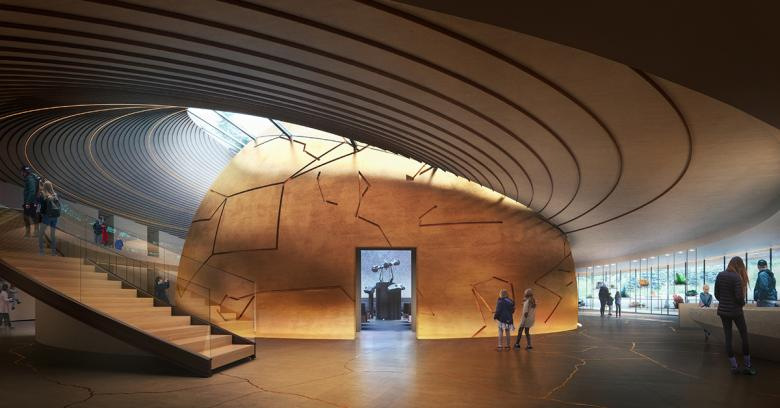 Ετσι θα είναι το εσωτερικό του θόλου όταν η κατασκευή του ολοκληρωθεί (φωτό: Snøhetta)