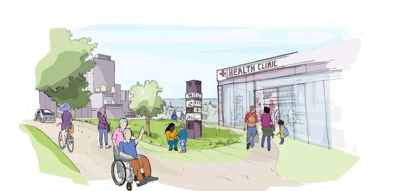 Στην πόλη της Google οι κοινωνικές αλλά και υγειονομικές υπηρεσίες θα συστεγάζονται. Credit: Sidewalk Labs
