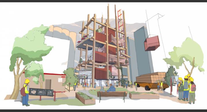 Τα αρθρωτά κτίρια θα αποτελούνται από ξύλινους σκελετούς και δεν θα υπάρχει χρήση τσιμέντου. (φωτό: Sidewalk Labs)
