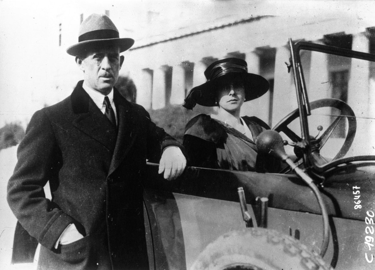 Prince Andrew of Greece and Denmark with his wife Princess Alice of Battenberg in Athens, January 1921