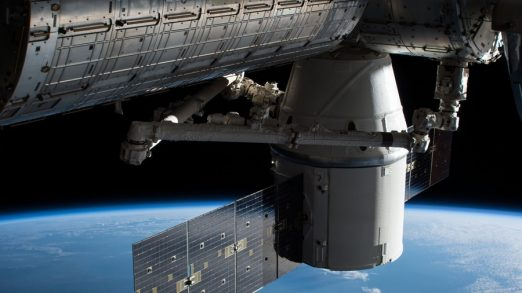epa06425736 A handout photo made available by NASA shows the SpaceX Dragon cargo craft attached to the Harmony module of the International Space Station after it arrived on 17 December 2017 (issued 08 January 2018). After delivering more than 4,800 pounds of science and supplies to the International Space Station, the SpaceX Dragon cargo spacecraft will depart the orbiting laboratory on 13 January 2018. NASA will provide live coverage of Dragon's departure beginning at 4:30 am EST. On 12 January,  flight controllers will use the space station's Canadarm2 robotic arm to detach Dragon from the Earth-facing side of the station's Harmony module. After Dragon is maneuvered into place, a ground-controlled command will release the spacecraft as NASA's Expedition 54 Flight Engineers Joe Acaba and Scott Tingle monitor its departure.  EPA/NASA / HANDOUT  HANDOUT EDITORIAL USE ONLY/NO SALES