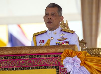 epa06734818 Thai King Maha Vajiralongkorn Bodindradebayavarangkun presides over the Royal Ploughing Ceremony at Sanam Luang in Bangkok, Thailand, 14 May 2018. The ancient traditional ceremony is held to mark the beginning of the rice farming season. Thousands of farmers converge in Bangkok for the annual event, which is believed to assure a successful planting season and an abundance of crops. This year the sacred oxen choose to eat grass, drink water and liquor leading to the traditional soothsayers predicts that the country will have adequate supply of water with abundant food and economic prosperity.  EPA/RUNGROJ YONGRIT