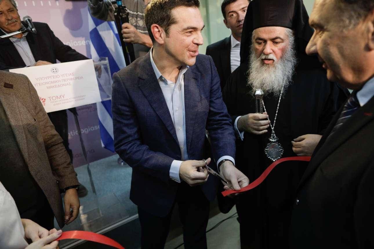 Δεκέμβριος 2017. Εγκαινιάζει την Τοπική Μονάδα Υγείας (ΤΟΜΥ) στον Εύοσμο Θεσσαλονίκης.