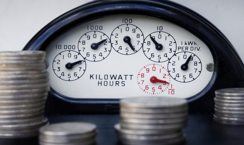 Electrical Meter with Money_272340881