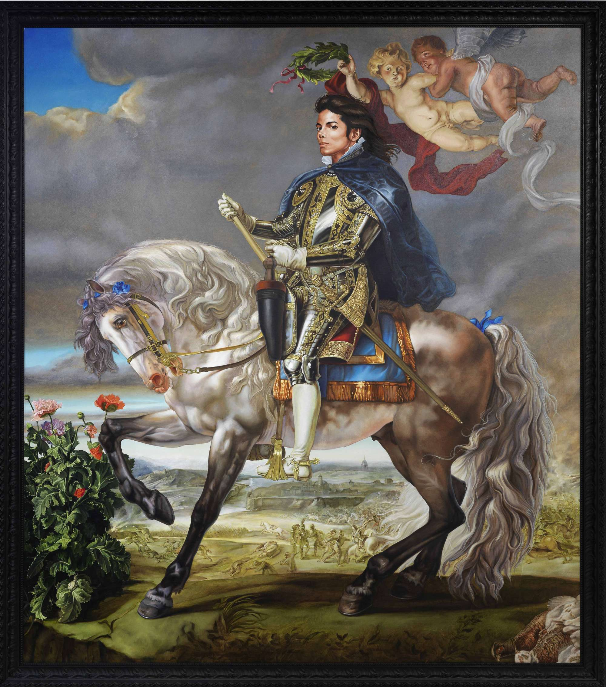 Equestrian Portrait of King Philip II (Michael Jackson), 2010 by Kehinde Wiley.