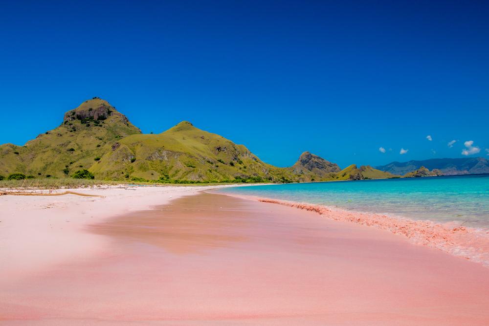 Pink Beach, Padar Island, Komodo Flores, Indonesia
