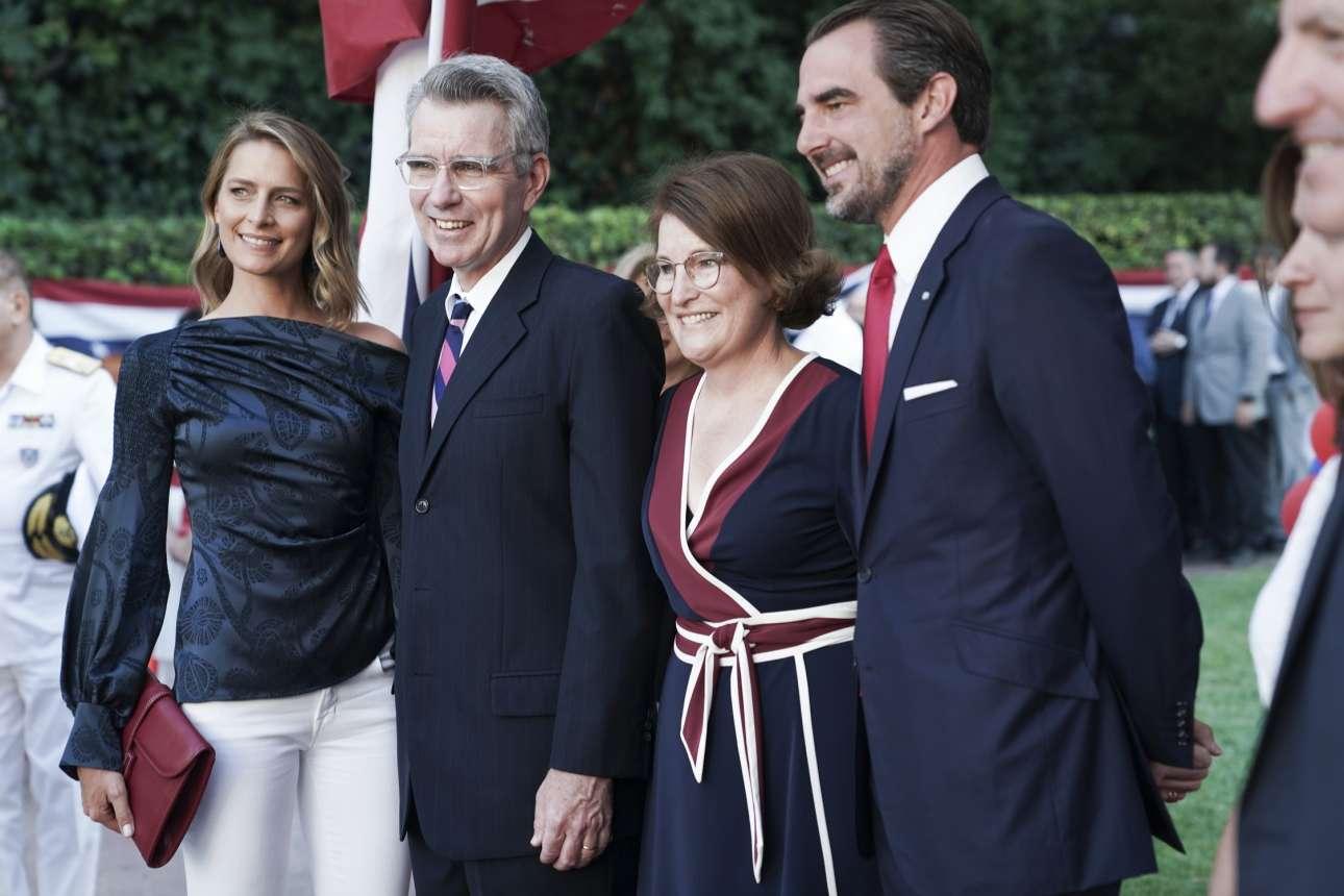O Νικόλαος Γλίξμπουργκ με την σύζυγό του Τατιάνα Μπλάτνικ και το ζεύγος Πάιατ