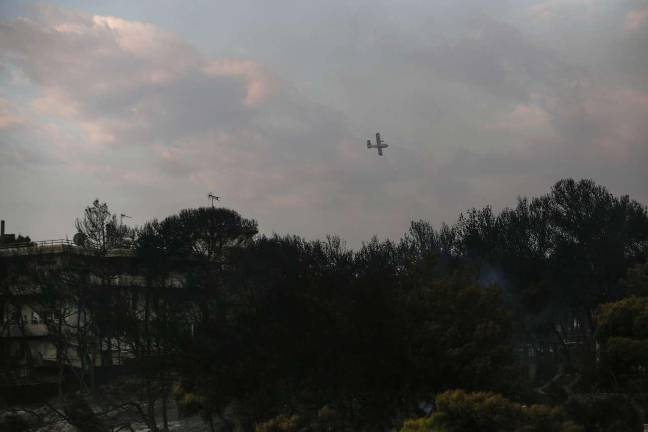 Πυροσβεστικά αεροσκάφη πετούν σαν αετοί προσπαθώντας να προστατεύσουν την ανοχύρωτη περιοχή