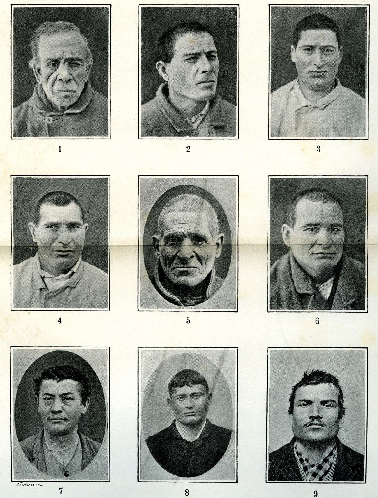 LOMBROSO-L'uomo_delinquente,_1897__Tipi_di_delinquenti_italiani_._(4157067329)