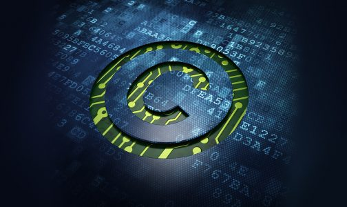 Law concept- digital screen with icon Copyright_178951412sm