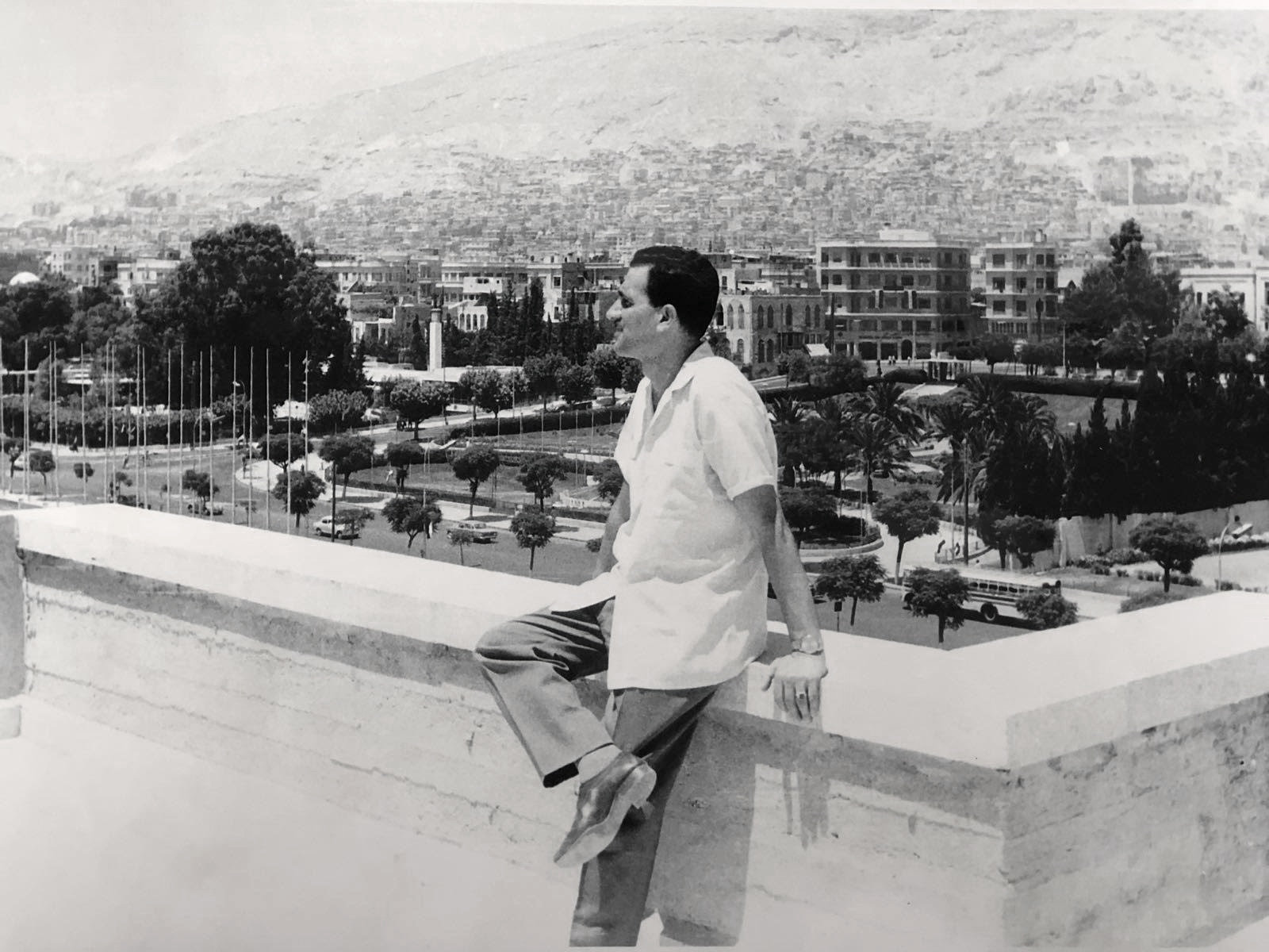 Eli Cohen in Damascus, Syria, in the early 1960s, wearing the watch that was recovered in a secret operation and brought back to Israel (Israel Government Press Office)