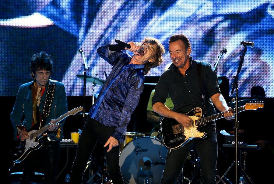 Με τον Ρόνι Γουντ και τον Μικ Τζάγκερ των Rolling Stones στη Λισαβώνα τον Μάιο του 2014 σε συναυλία στο πλαίσιο του φεστιβάλ Rock in Rio
