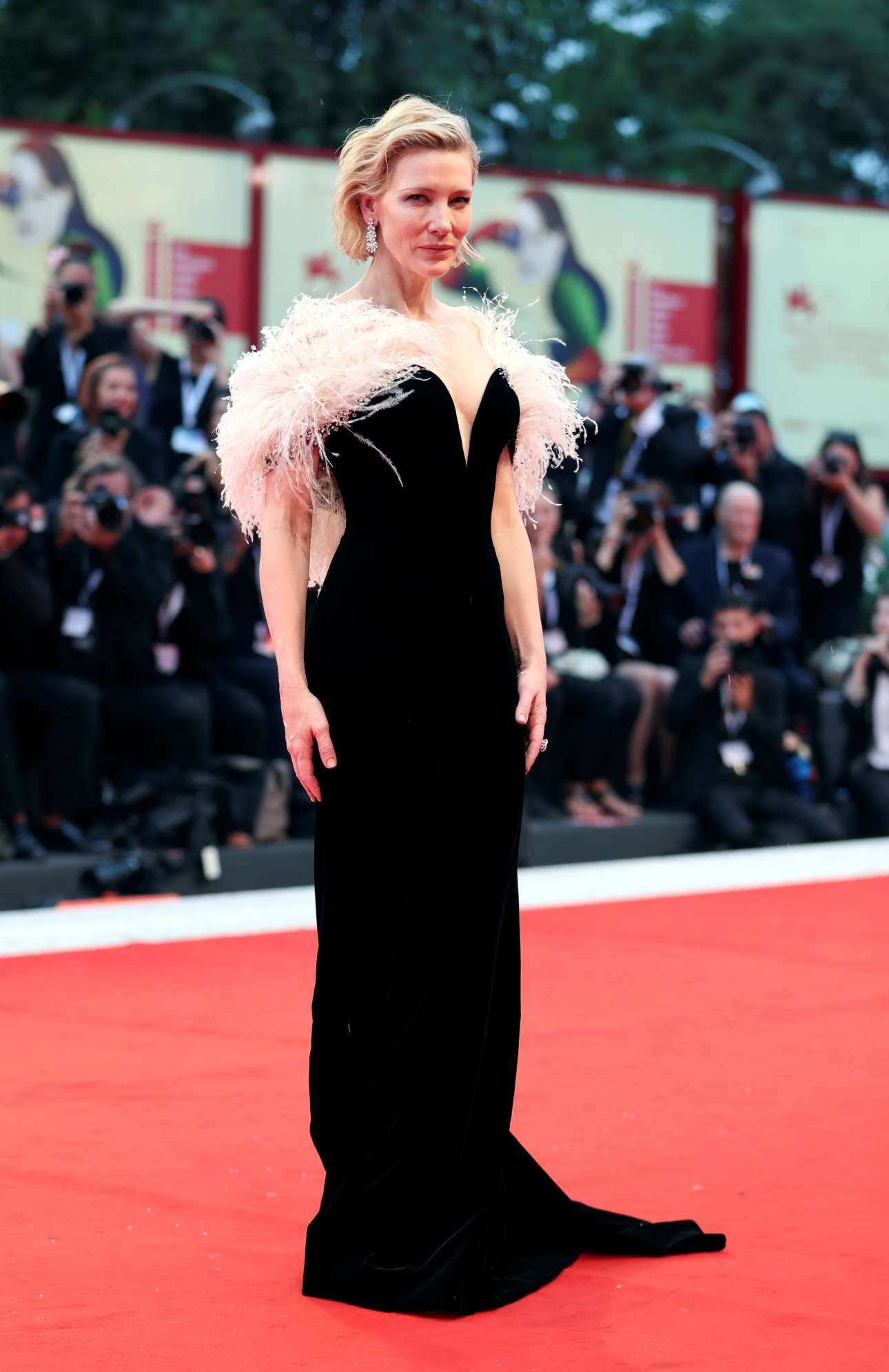 Σαν παλιά χολιγουντιανή σταρ, η Κέιτ Μπλάνσετ στο κόκκινο χαλί για την ταινία «Ενα αστέρι γεννιέται», φορώντας Armani Prive