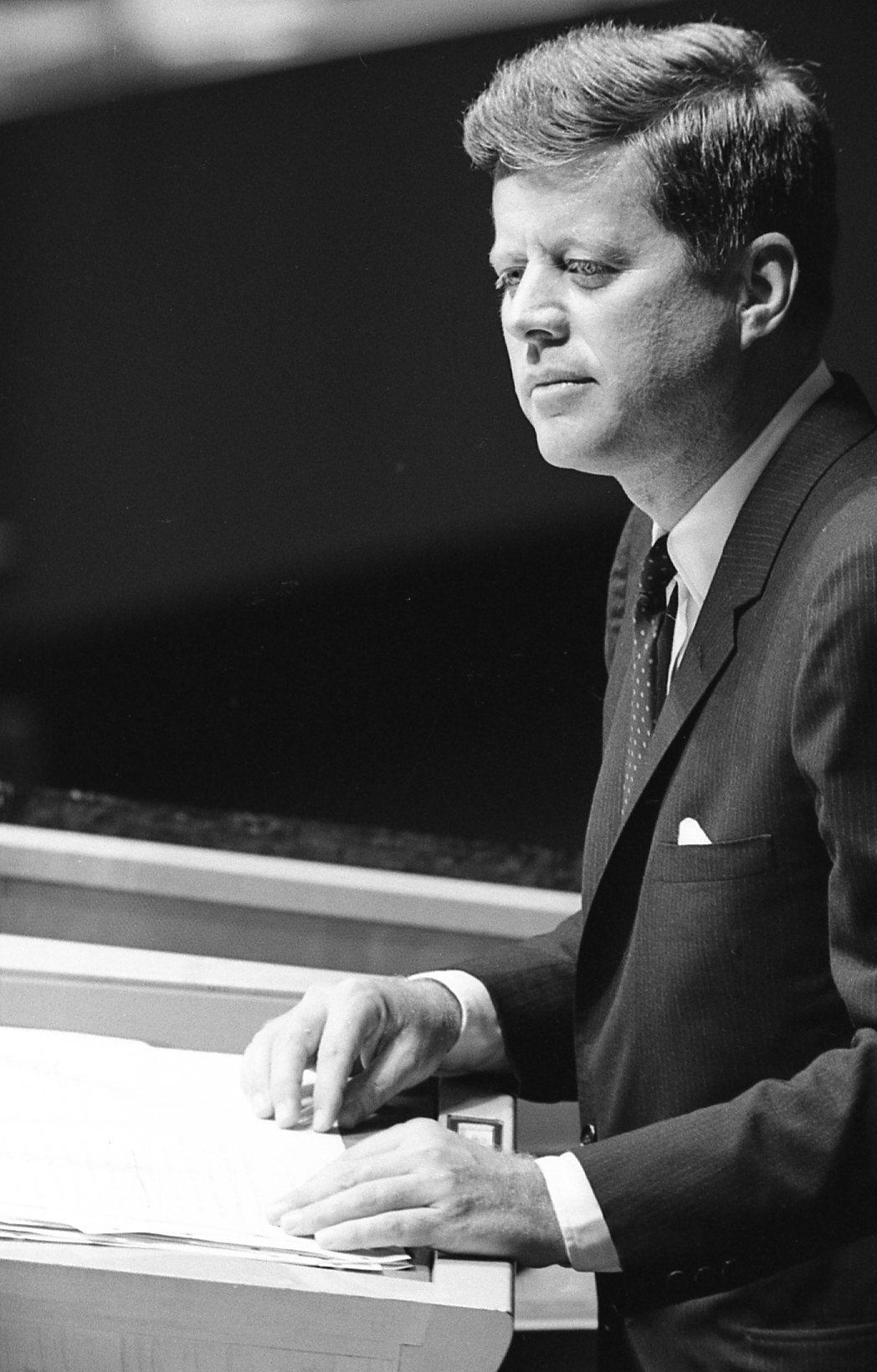 Ο 35oς αμερικανός πρόεδρος Τζον Φιτζέραλντ Κένεντι, σε ομιλία το 1962